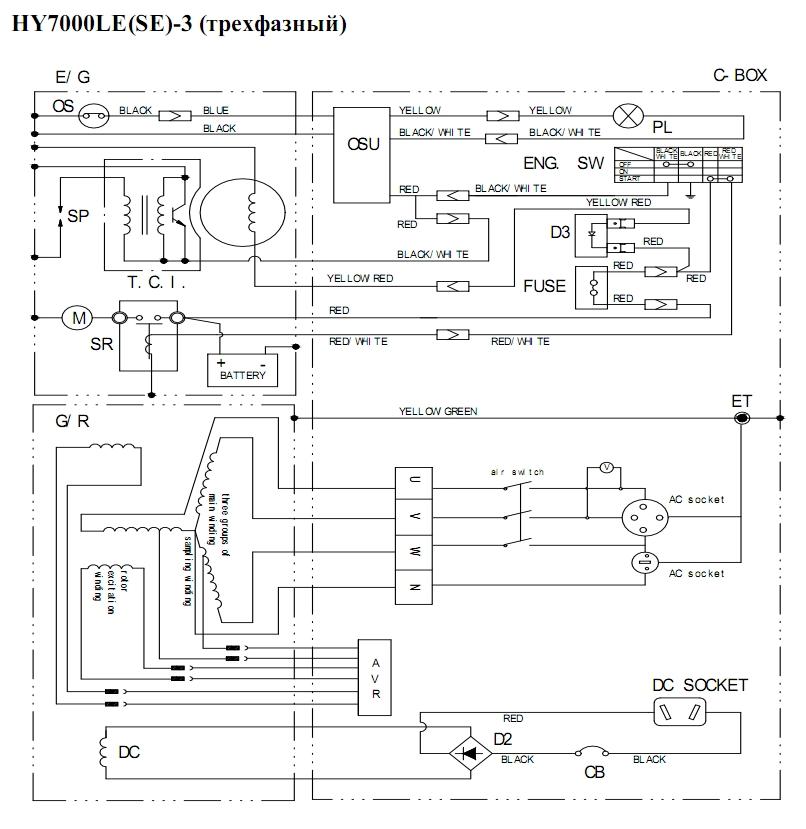 Hyundai hy 7000 схема